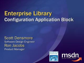 Enterprise Library Configuration Application Block