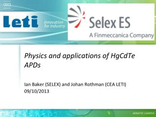 Physics and applications of HgCdTe APDs