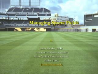 Managing Sports Fields