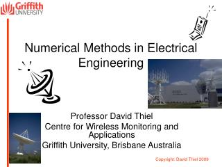 Numerical Methods in Electrical  Engineering