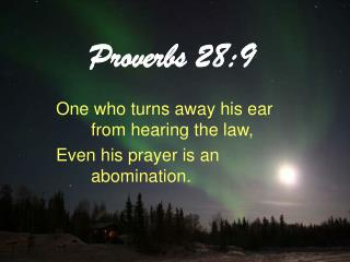 Proverbs 28:9