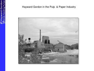 Hayward Gordon in the Pulp  & Paper Industry