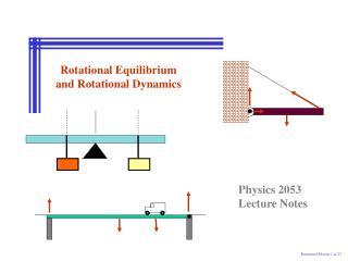 Rotational Equilibrium and Rotational Dynamics