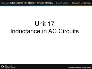 Unit 17 Inductance in AC Circuits