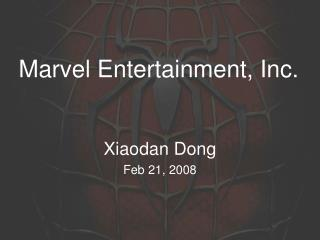 Marvel Entertainment, Inc.