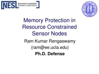 Memory Protection in  Resource Constrained  Sensor Nodes