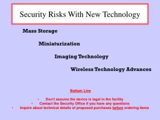 Security Risks With New Technology