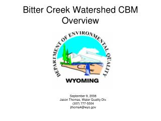 Bitter Creek Watershed CBM Overview