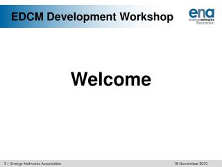 EDCM Development Workshop