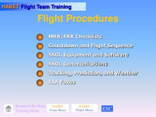 Flight Procedures