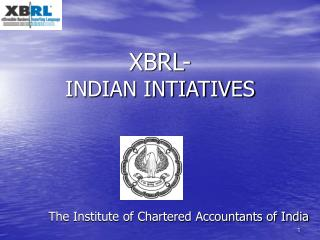 XBRL- INDIAN INTIATIVES