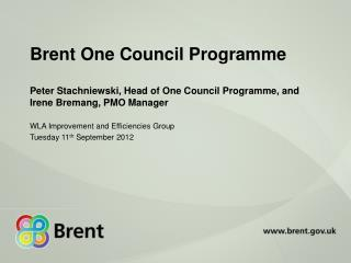 Brent One Council Programme