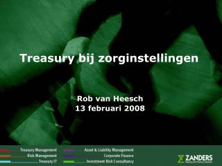 Treasury bij zorginstellingen