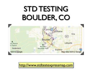 STD Testing Boulder