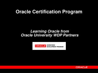 Learning Oracle from  Oracle University WDP Partners