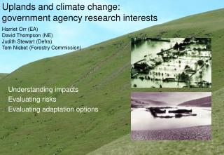 Uplands and climate change: government agency research interests