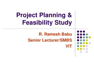 Project Planning & Feasibility Study