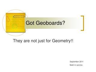 Got Geoboards?