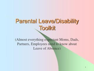 Parental Leave/Disability Toolkit