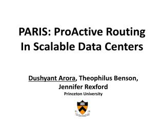 PARIS:  ProActive  Routing In Scalable Data Centers