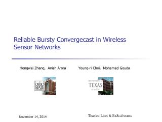 Reliable Bursty Convergecast in Wireless Sensor Networks