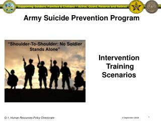 Army Suicide Prevention Program