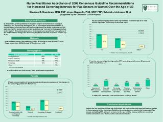 Nurse Practitioner Acceptance of 2006 Consensus Guideline Recommendations