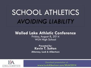 SCHOOL ATHLETICS AVOIDING LIABILITY