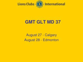 GMT GLT MD 37