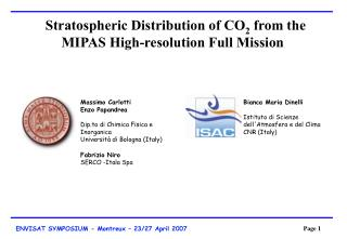 Stratospheric Distribution of CO 2  from the MIPAS High-resolution Full Mission