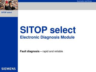 SITOP select Electronic Diagnosis Module