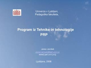 Program iz Tehnike in tehnologije