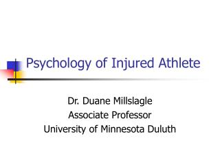 Psychology of Injured Athlete