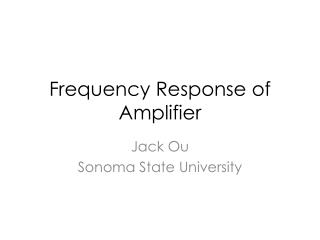 Frequency Response of Amplifier