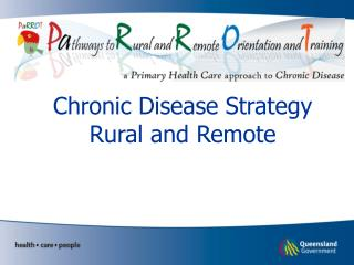 Chronic Disease Strategy Rural and Remote