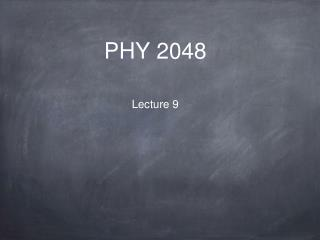 PHY 2048