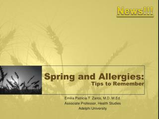 Spring and Allergies: Tips to Remember