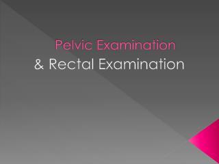 Pelvic Examination