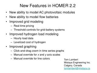 New Features in HOMER 2.2
