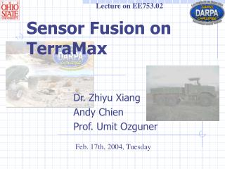 Sensor Fusion on TerraMax