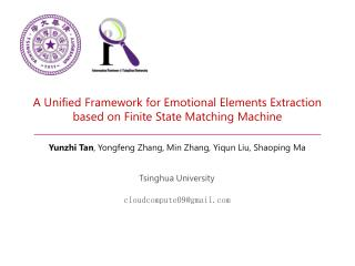 A Unified Framework for Emotional Elements Extraction based on Finite State Matching Machine