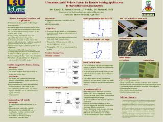 Unmanned Aerial Vehicle System for Remote Sensing Applications  in Agriculture and Aquaculture