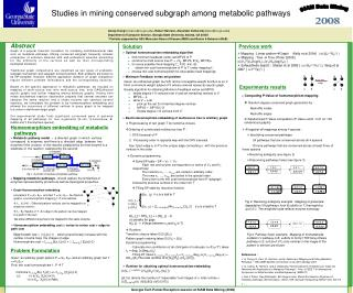 Studies in mining conserved subgraph among metabolic pathways