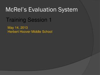 McRel's  Evaluation System
