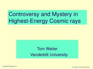 Controversy and Mystery in Highest-Energy Cosmic rays
