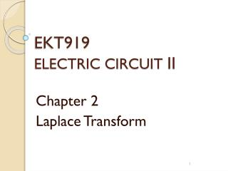 EKT919 ELECTRIC CIRCUIT  II