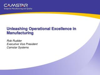 Unleashing Operational Excellence in  Manufacturing
