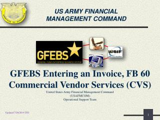 US ARMY FINANCIAL MANAGEMENT COMMAND