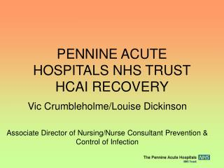 PENNINE ACUTE HOSPITALS NHS TRUST HCAI RECOVERY