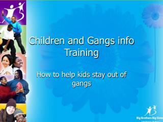 Children and Gangs info Training